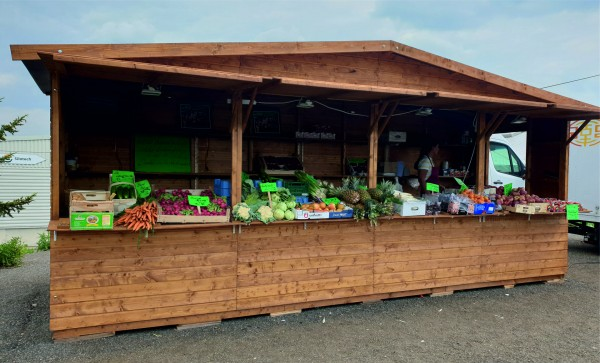 Verkaufsstand - Markthütte - 6,00m x 2,00m