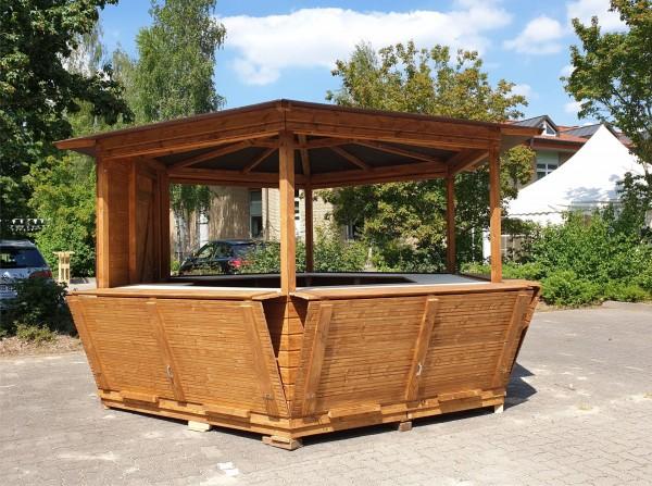 Pavillon - 6-Eck- Verkaufsstand - Markthütte 4m